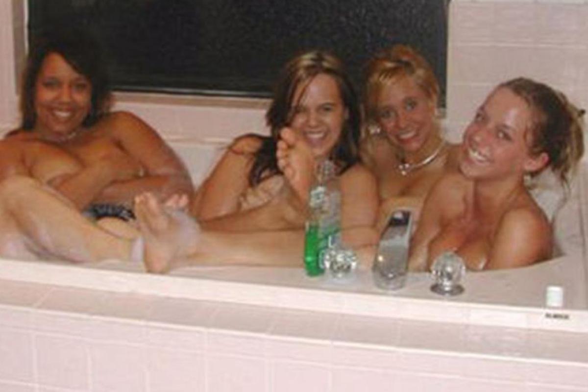 hot naked chicks in bathtub
