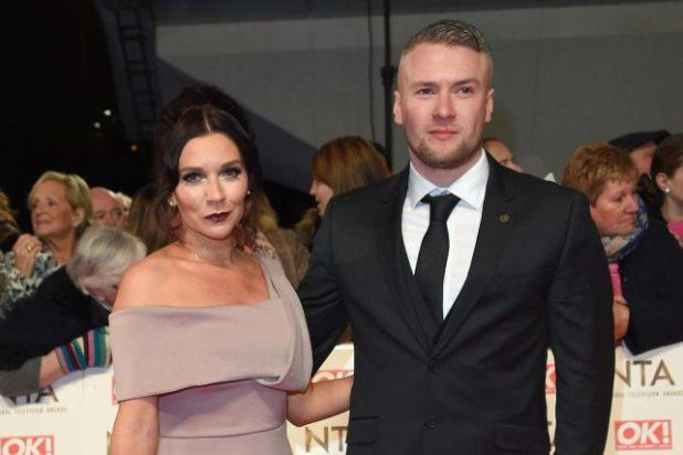 Candice and her fiance Liam pose on the red carpet at the National Television Awards 2017