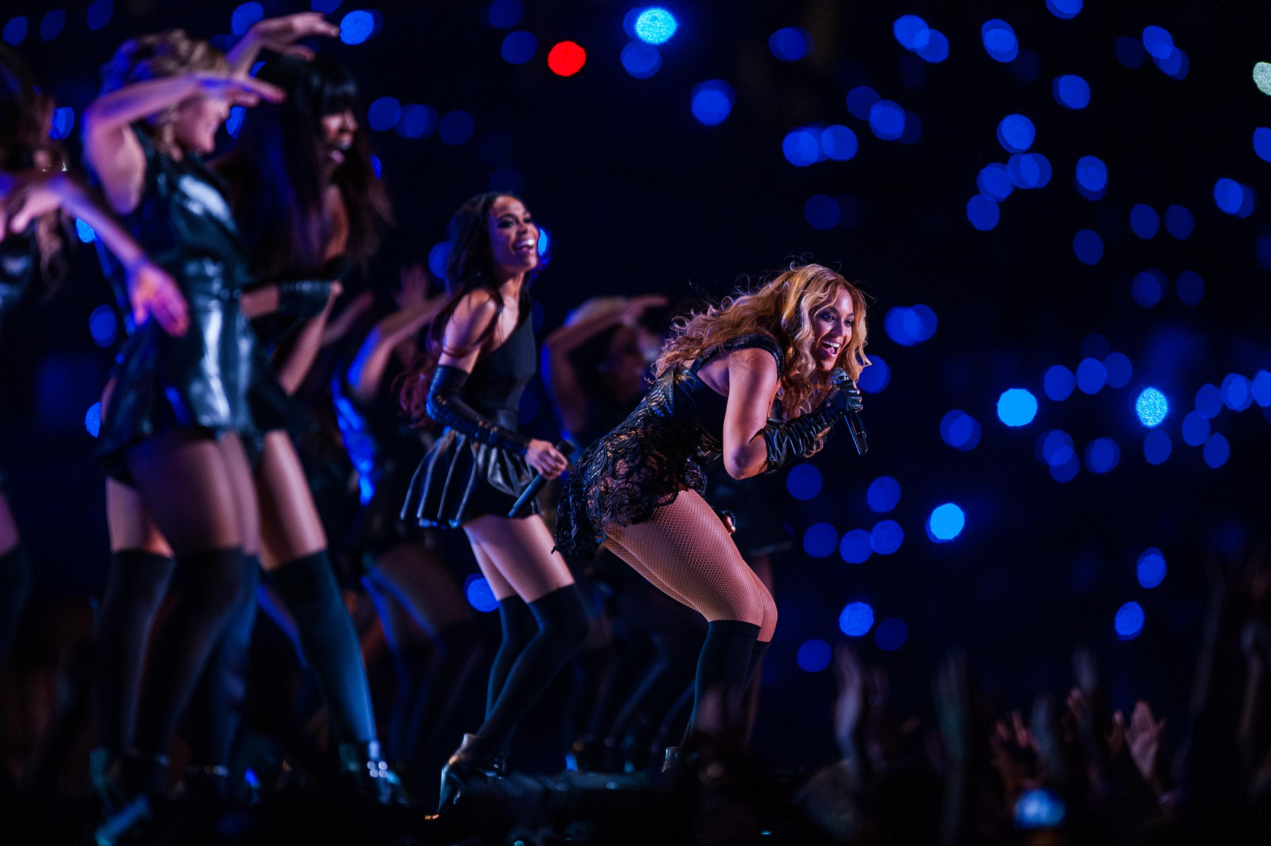 Beyonce put on an electrifying performance at the Super Bowl in New Orleans