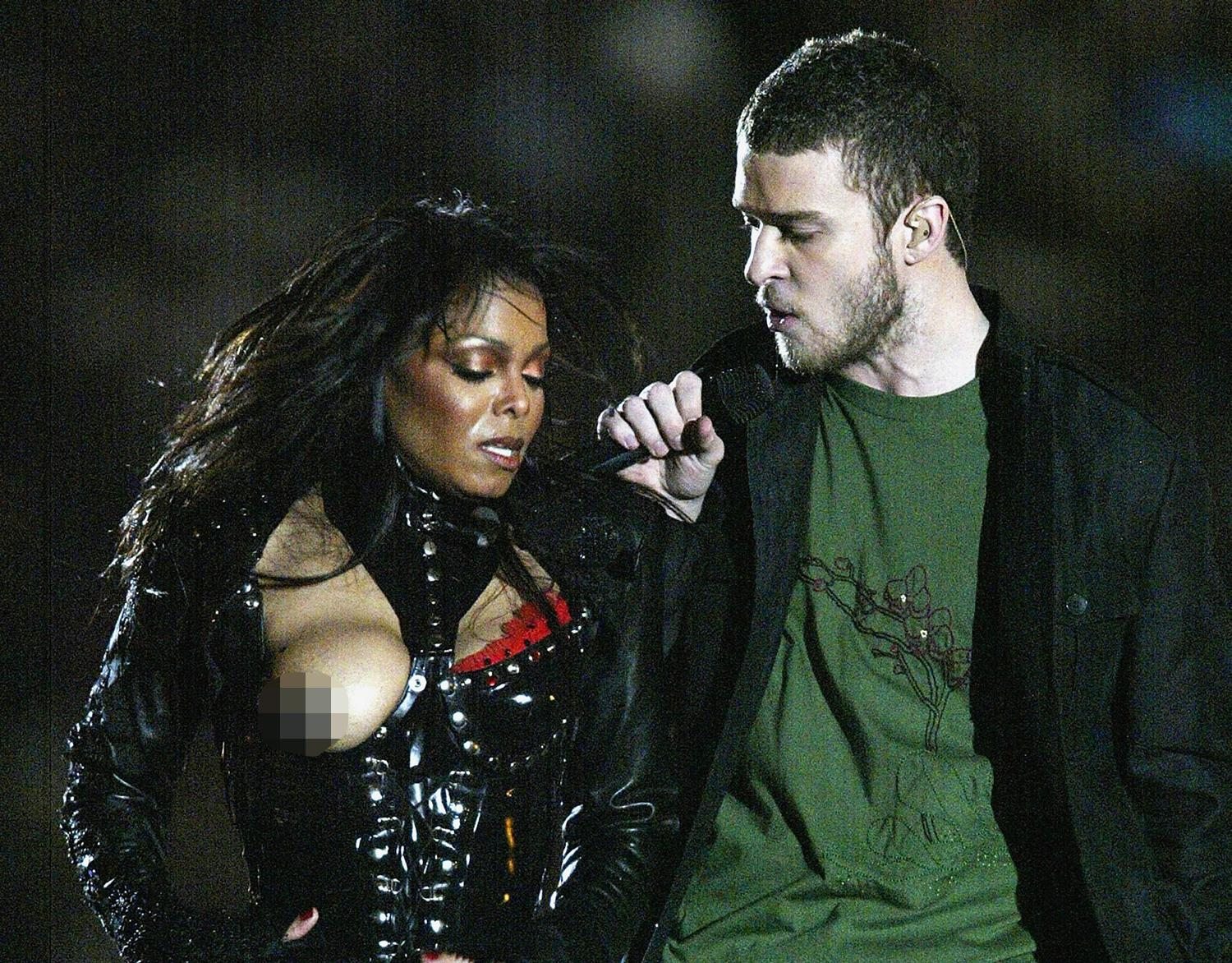 Janet Jackson suffered an embarrassing wardrobe malfunction during her half-time show performance
