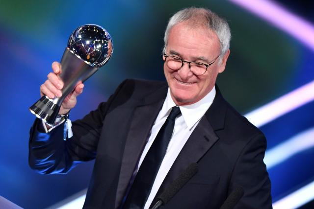 Leicester City boss won the Fifa male coach of the year award