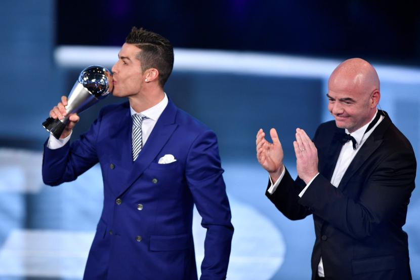 Image result for Cristiano Ronaldo crowned World best player