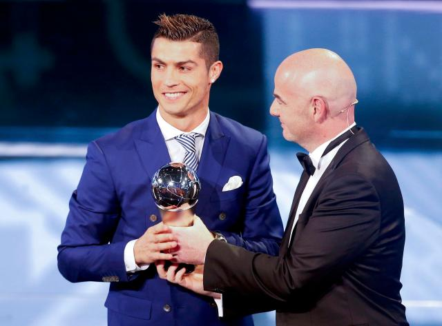 You can't argue with Real Madrid and Portuguese star Cristiano Ronaldo winning tonight's top prize