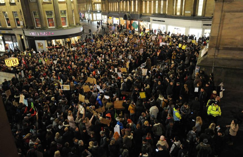Image result for britain protest trump immigration