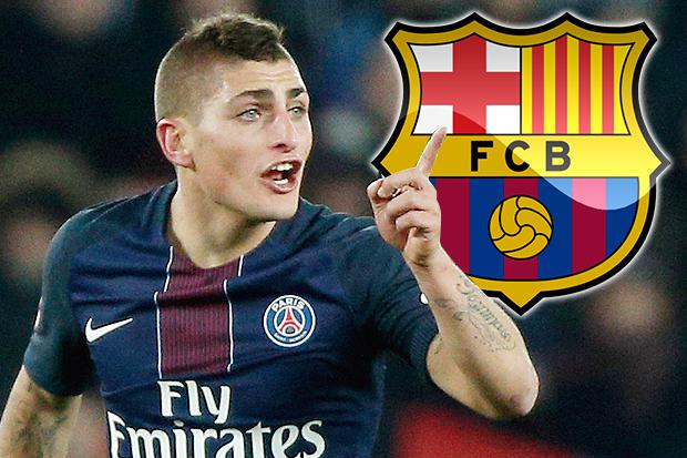 Marco Verratti s agent presents £88million offer from Barcelona to