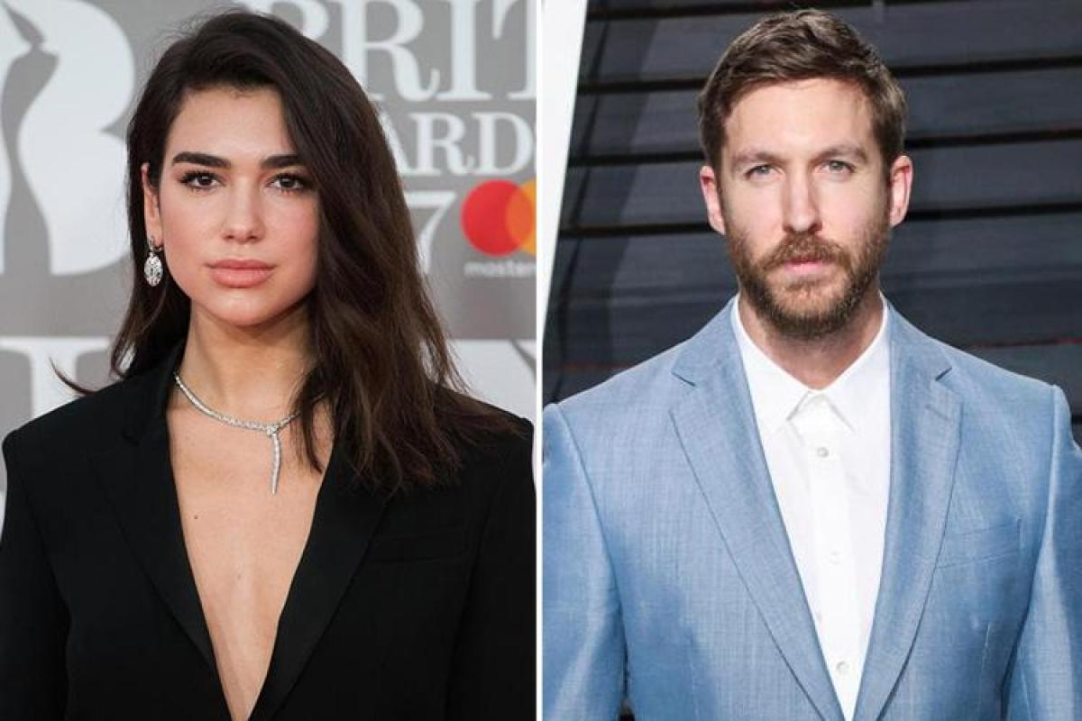 Dua Lipa and her reported boyfried Calvin Harris