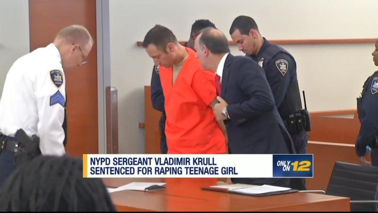 Krull is led away from court after sentencing