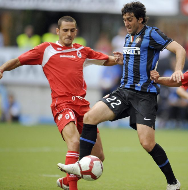 Leonardo Bonucci in action for Bari against Inter Milan shortly after leaving club