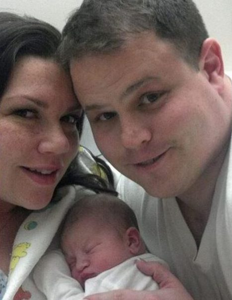 Baby Landon, with his mum Jillian and dad Jarrod, died just weeks after birth