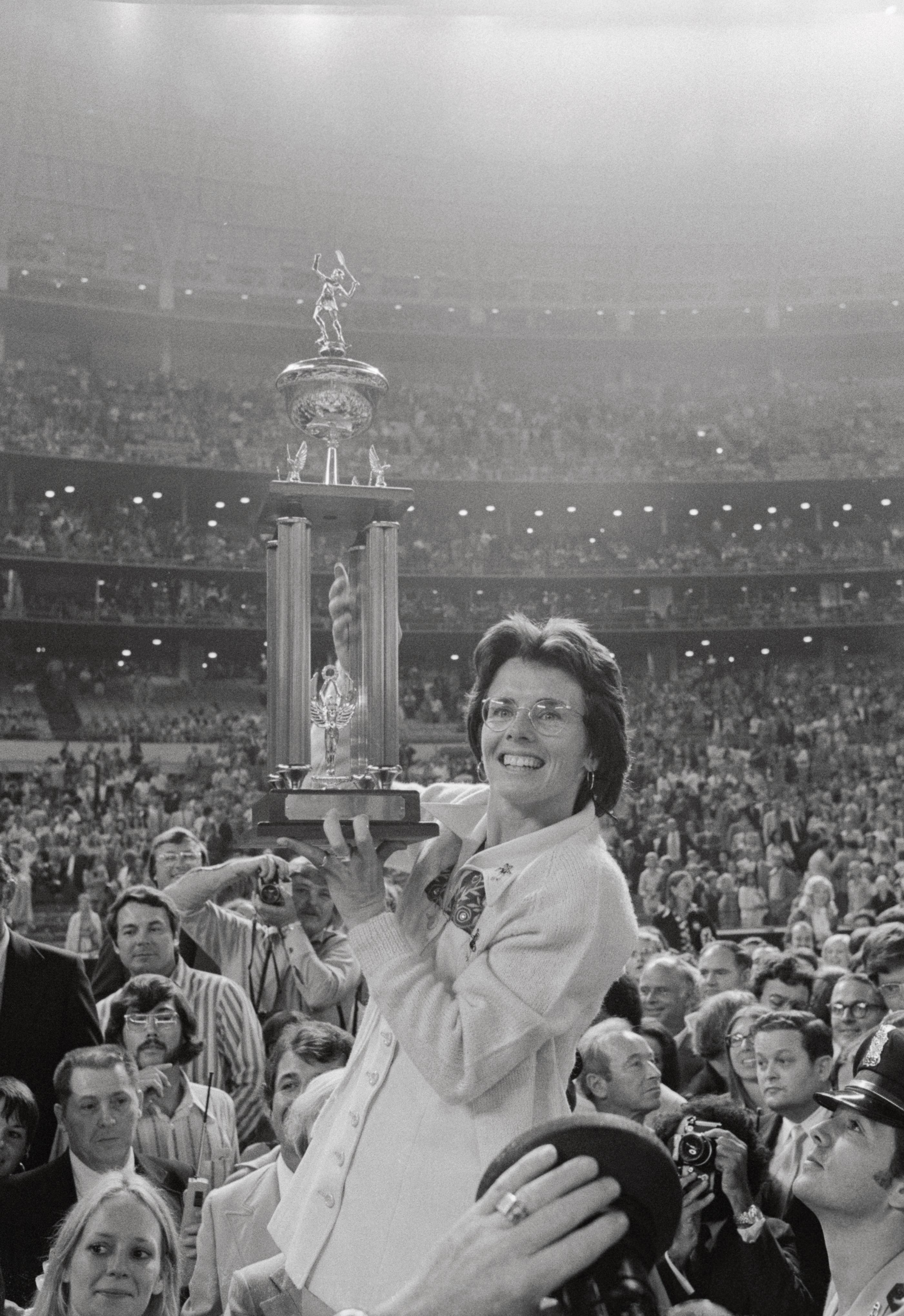 Billie Jean King was the No 1 female player in the world when she took part in the Battle of the Sexes