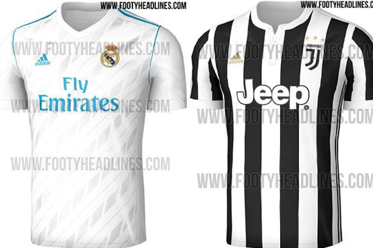 best service c8733 24ef9 Real Madrid and Juventus new Adidas kits leaked for next ...