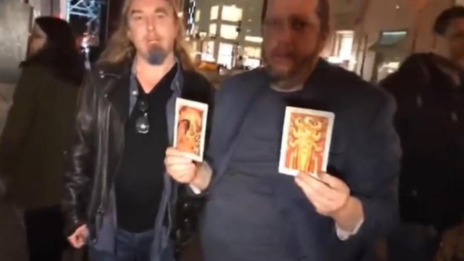 The occultists used tarot cards to put a curse on the US president