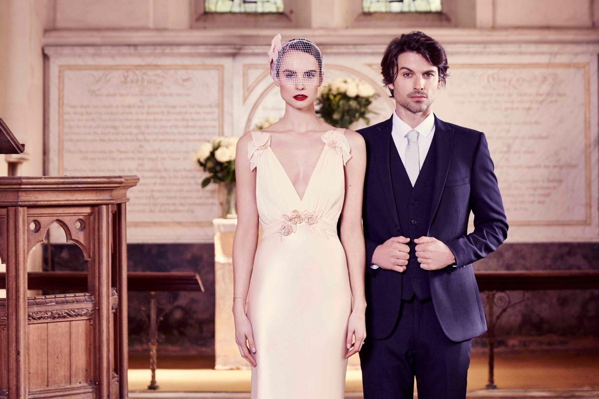 Want a wedding dress that won\'t break the bank? These his \'n\' hers ...