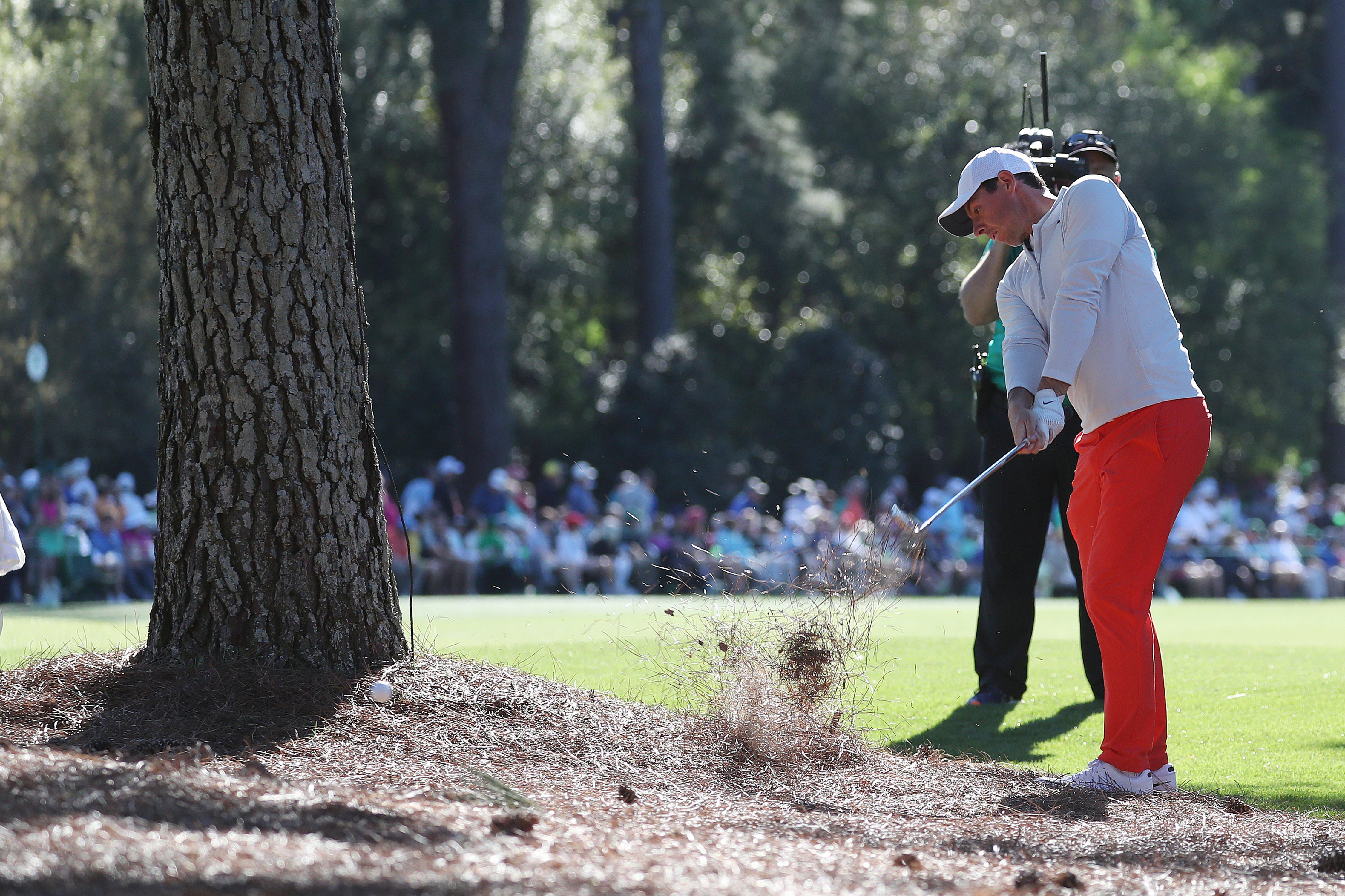 Rory McIlroy just couldn't get anything going on moving day at Augusta last year