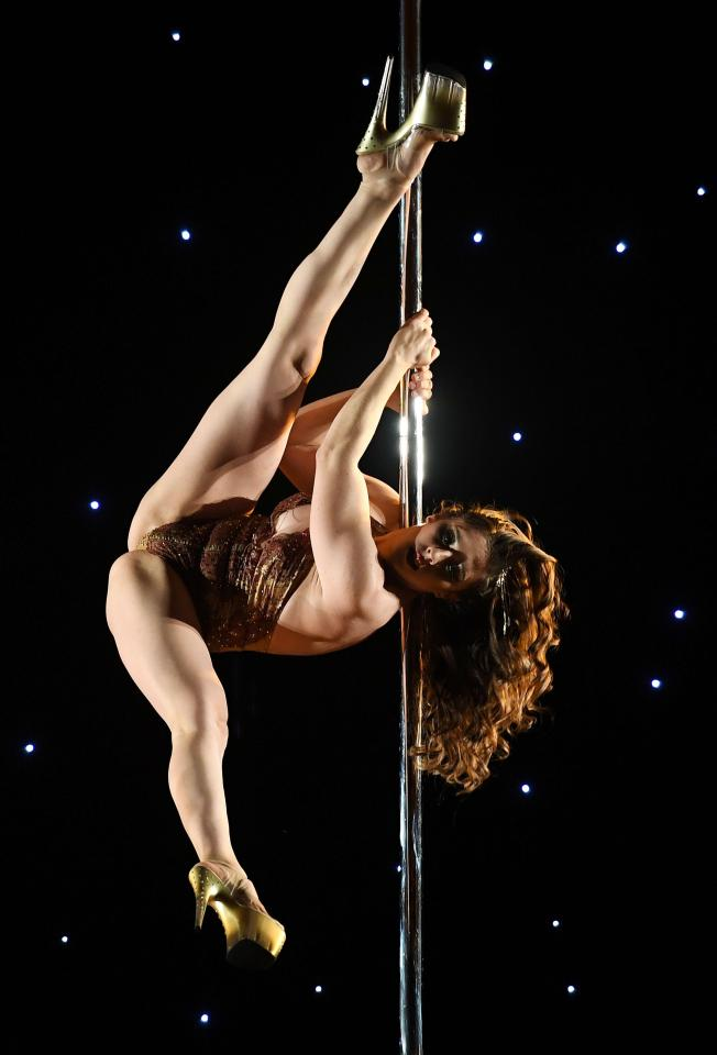 Kerri N'Fuego also competes in the 'Exotic' performance category