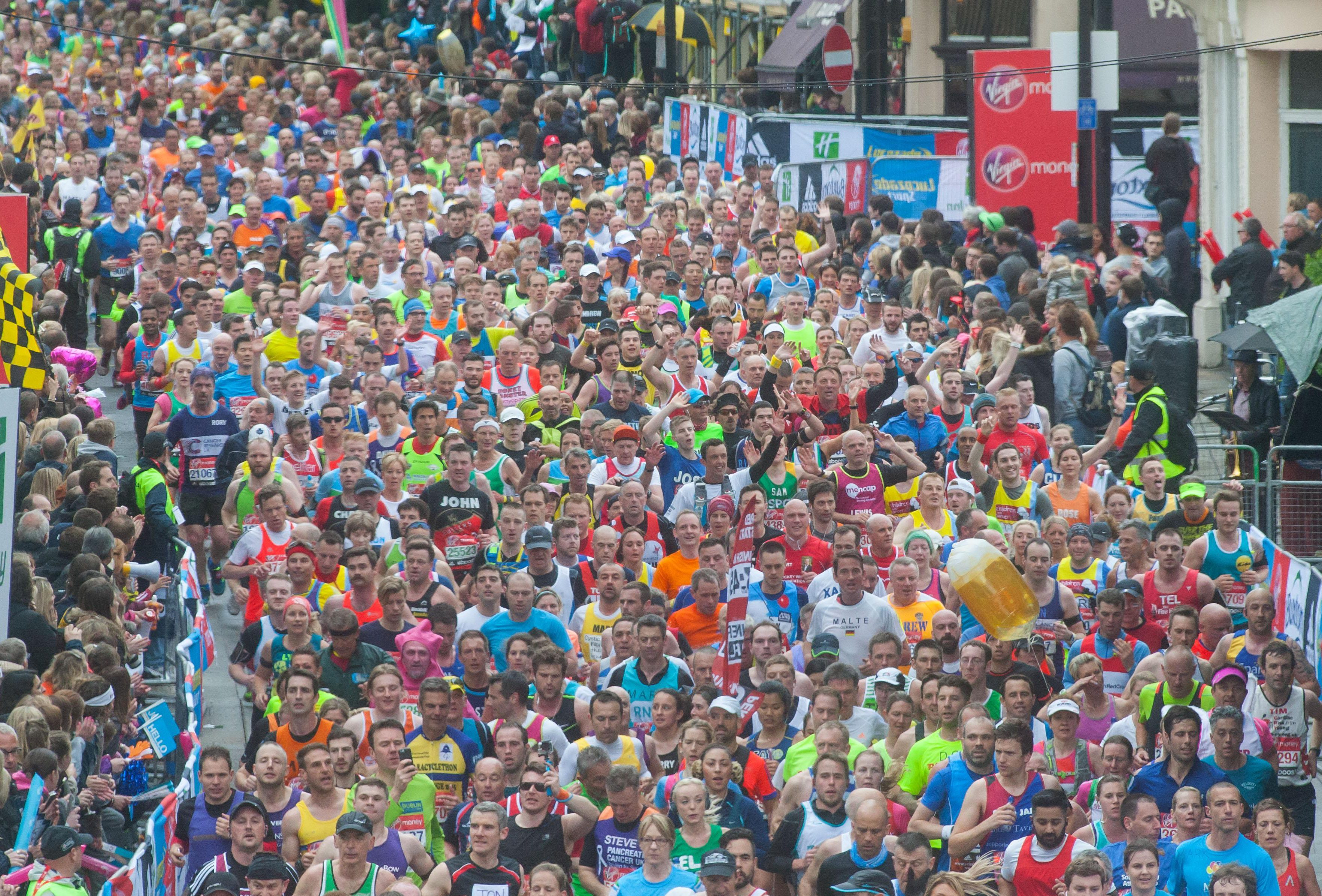 It's a chaotic scene around London when the Marathon starts - but you can keep up with how your loved ones are doing with the special app