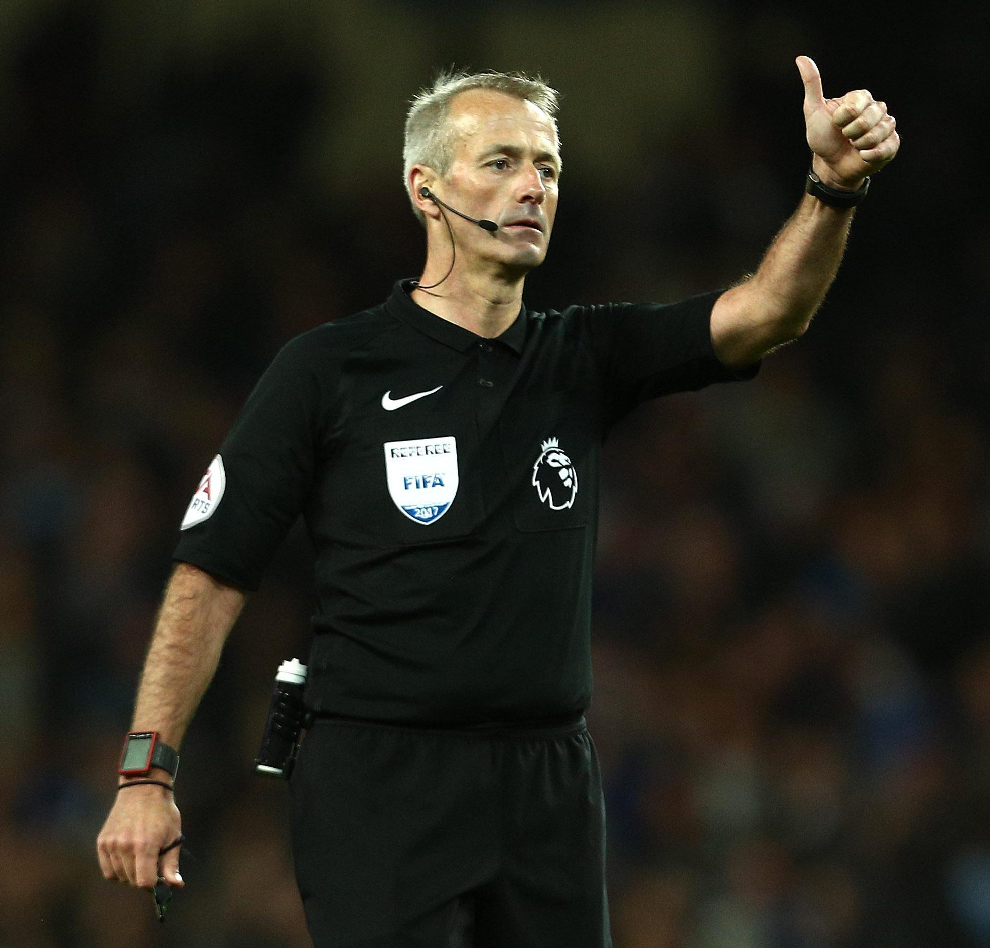 Englishman Martin Atkinson has refereed Champions League matches since 2008-09