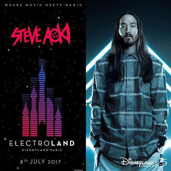 Steve Aoki will headline the 25th Anniversary Disney festival
