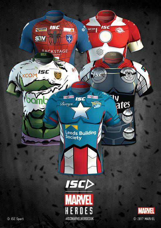 All five Marvel superhero kits