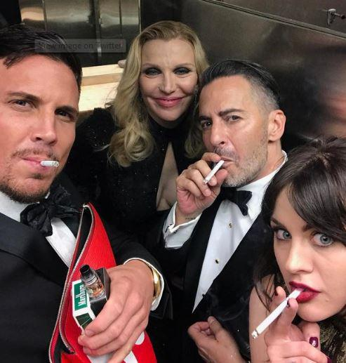 Tom Ford joined Courtney Love and Frances Bean Cobain for a smoking selfie as well