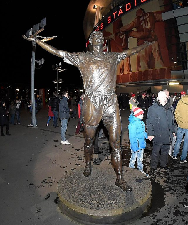The statue of Adams outside The Emirates Stadium