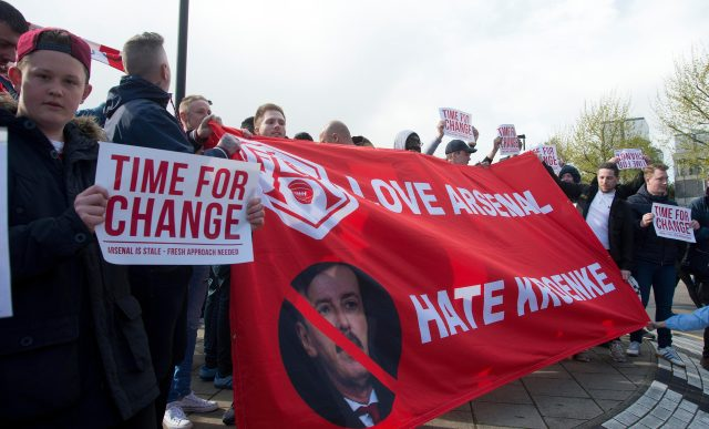 Arsenal supporters have let their feelings known for owner Stan Kroenke before
