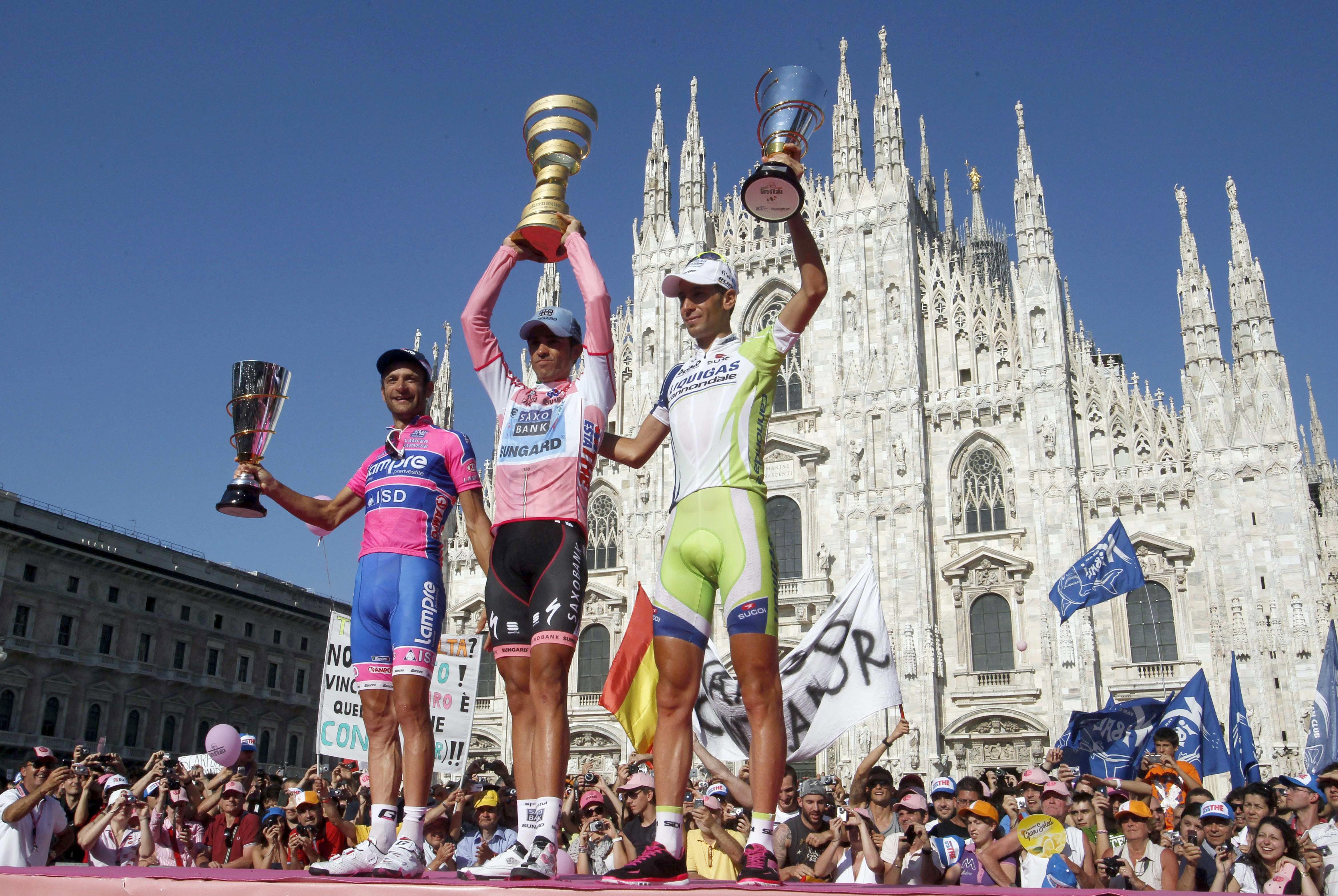 Riders now compete from all over the world in the famous racethat takes in 2,200 miles of Italian countryside