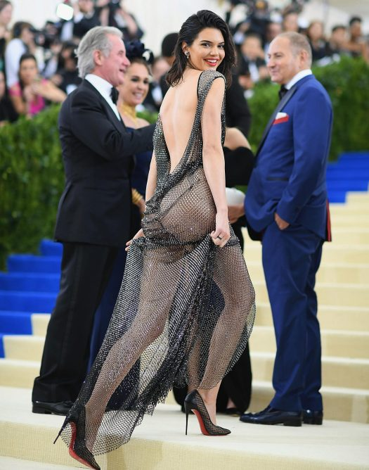 Kendall stunned at the annual bash in a completely sheer dress