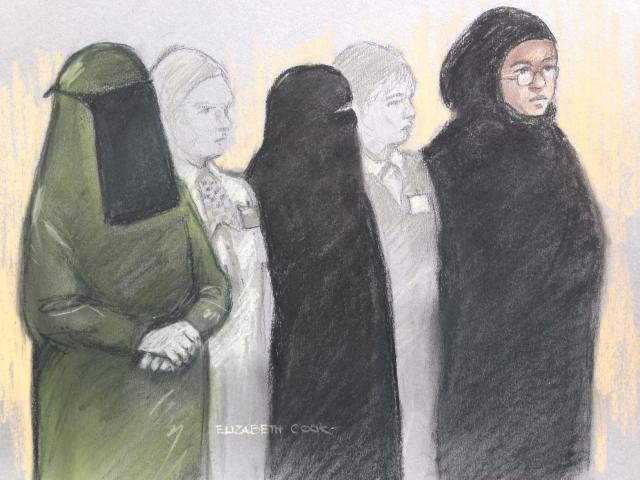 Three women – including a mum and daughter – accused of being UK's first all-female terror group appear in court accused of plotting knife attack