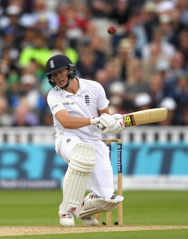 Ballance could be endangered by the short ball if he cannot see it