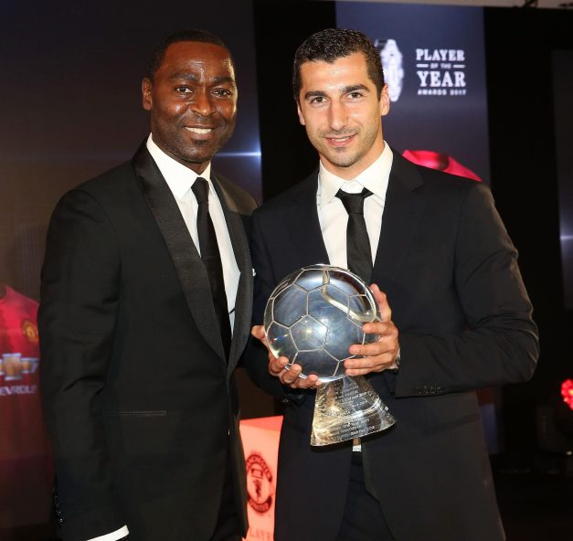 And Cole presented Henrikh Mkhitaryan with his goal of the year award