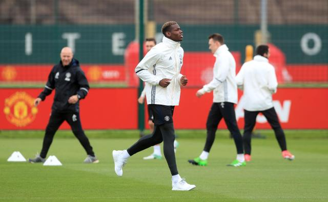 Paul Pogba has a gentle run - he is set to feature for United against Crystal Palace this Sunday