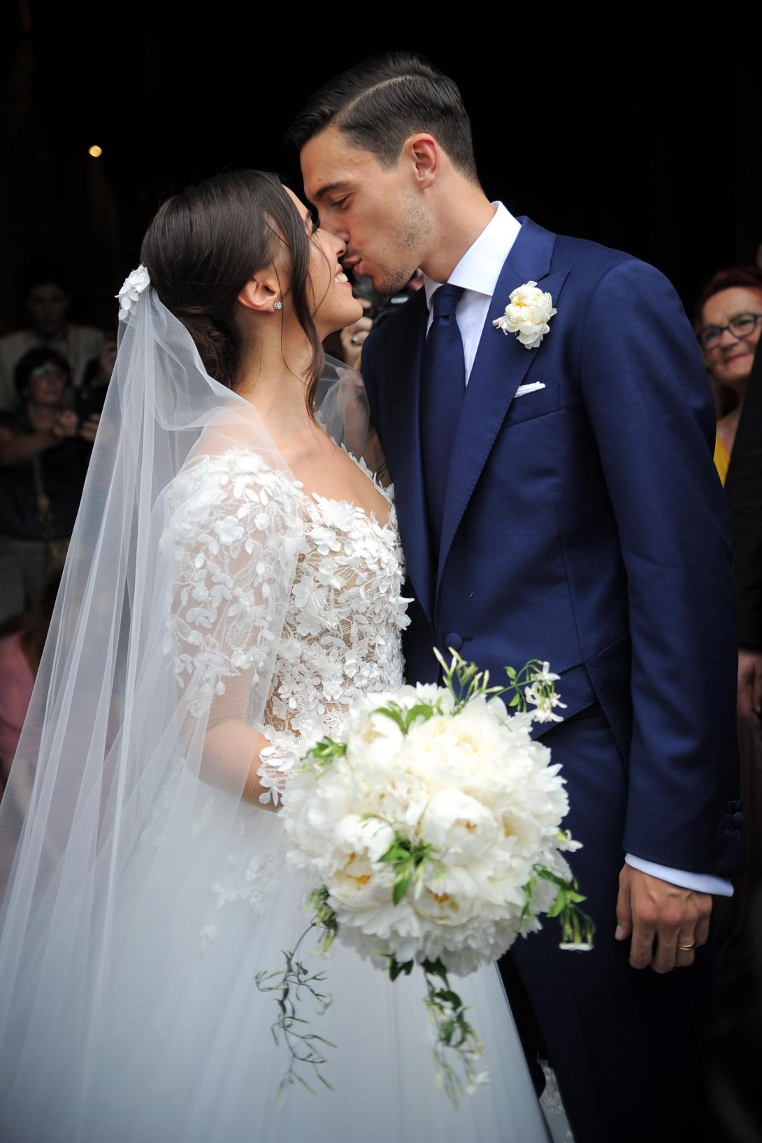 Matteo Darmian and long-term fiancee Francesca Cormanni tie the knot in Italy