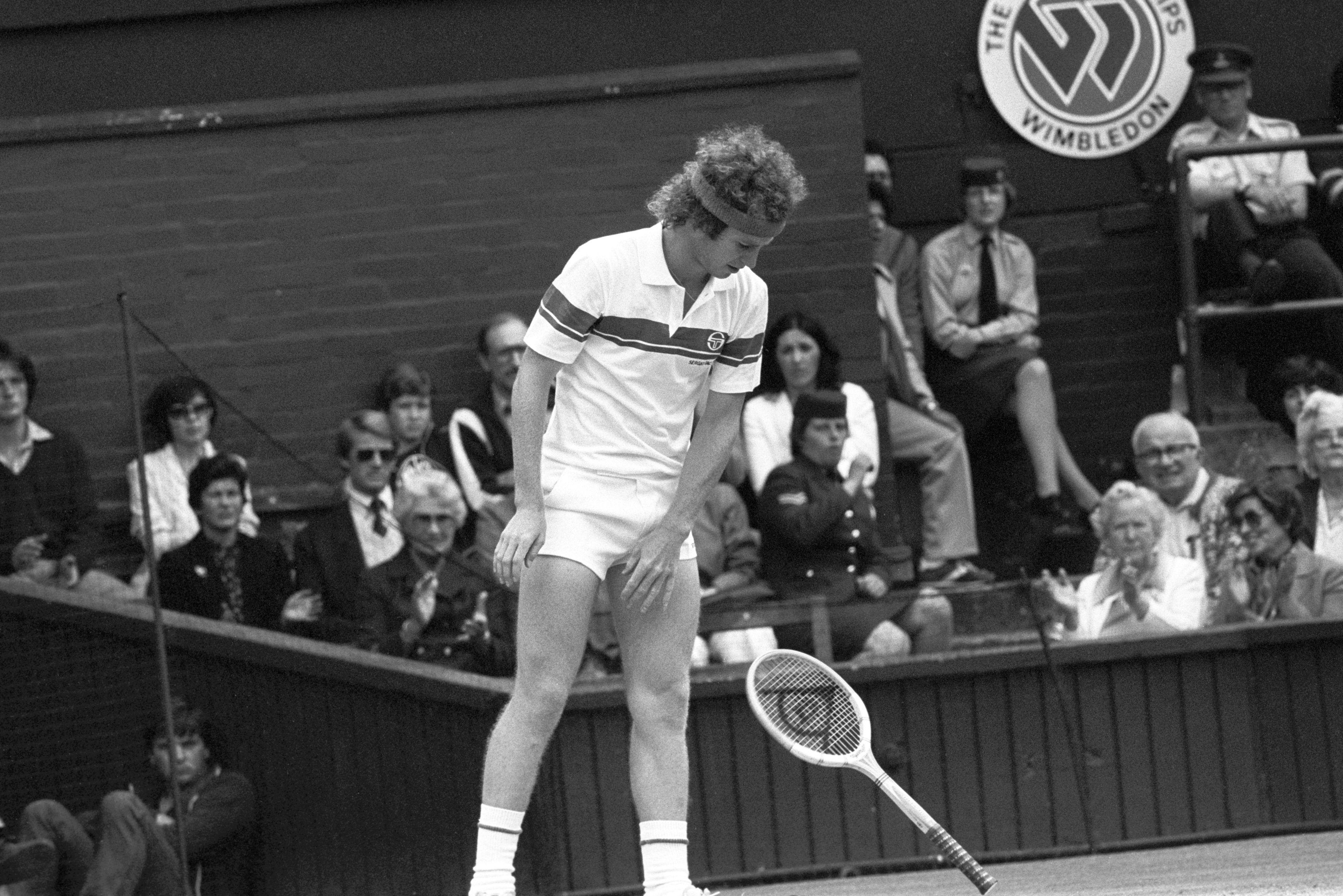 John McEnroe is famous for his outbursts and arguments with umpires and fans