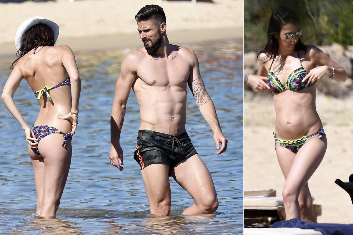 Arsenal Star Olivier Giroud Stuns On The Beach And His Wifes Not