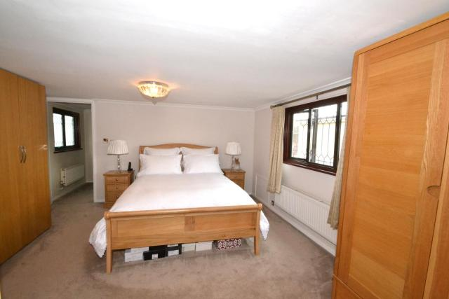 One of three bedrooms in the east London property