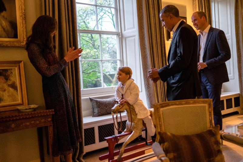 Little George even got to meet President Obama when he visited the UK