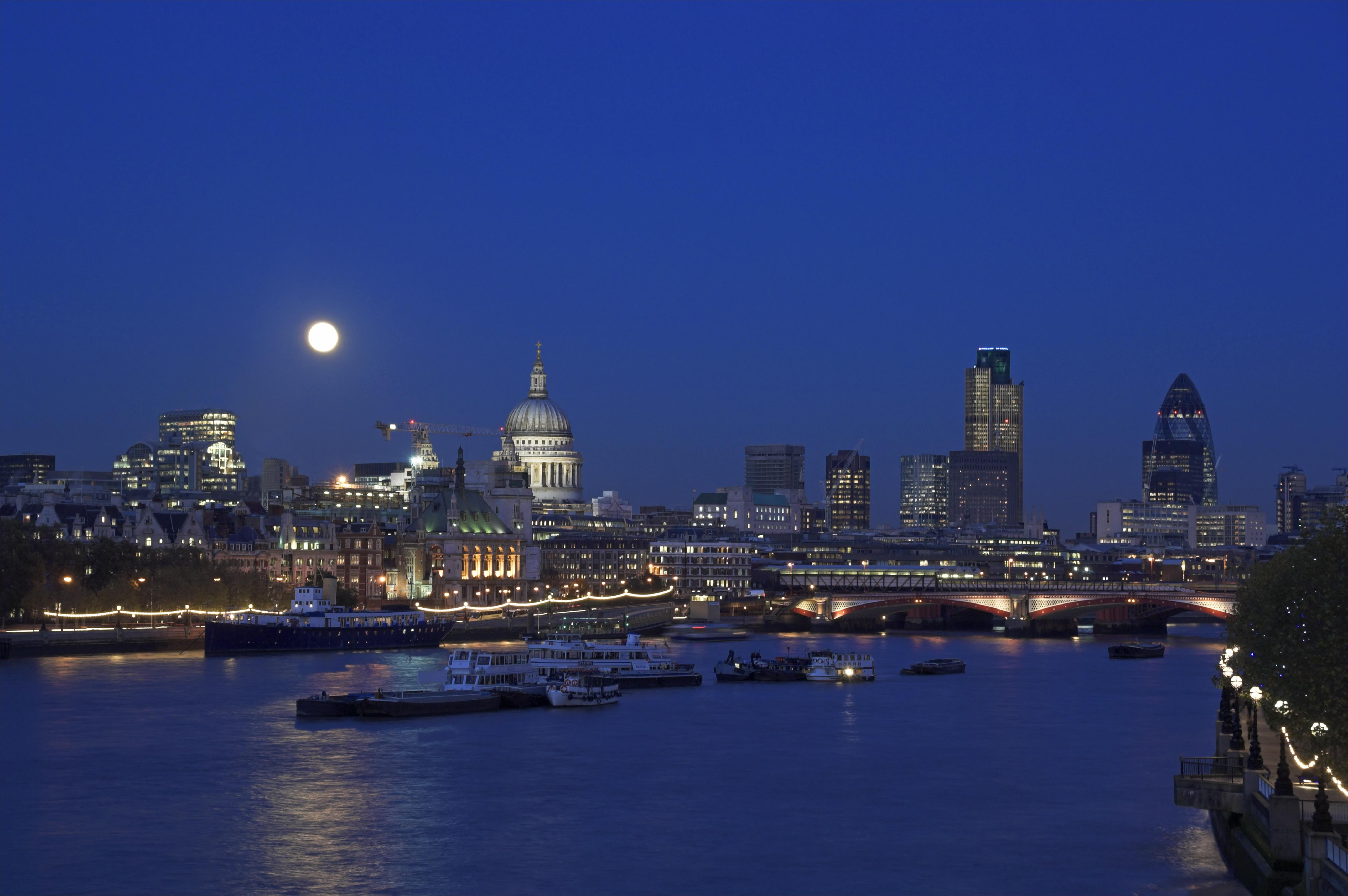 A supermoon appears significantly bigger than a normal full moon