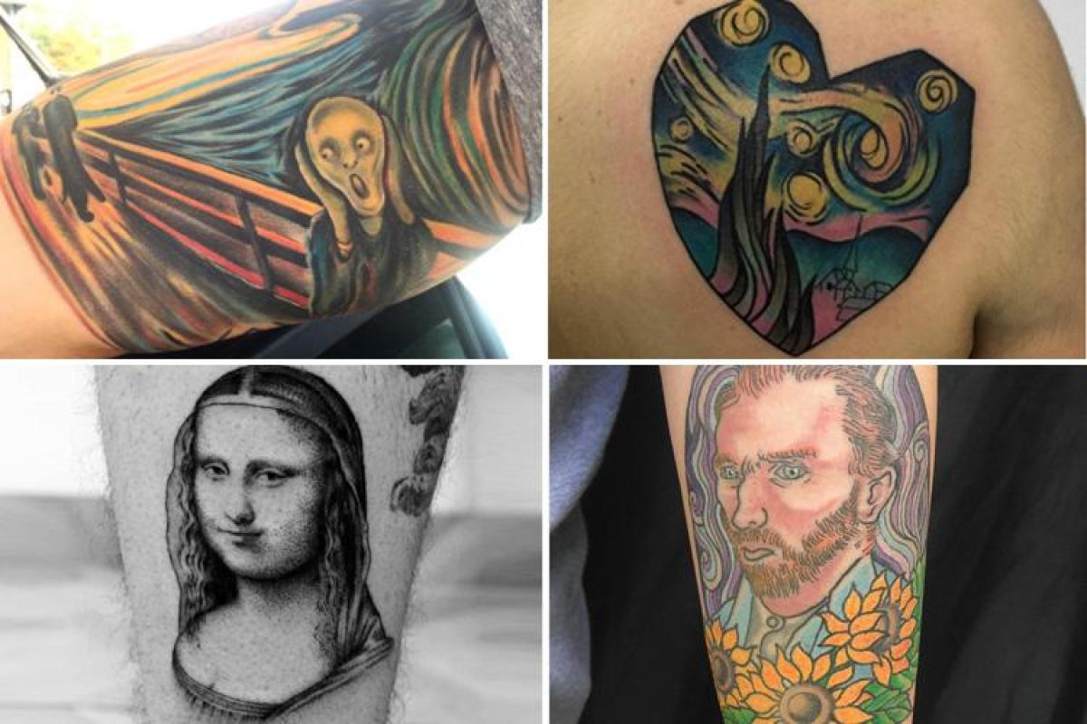 b283d1061d364 Tattoo addicts are getting their favourite paintings inked onto themselves  in a daring new trend