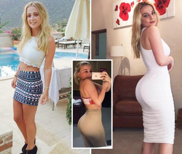 Skinny Teen Claims She Got A Kim Kardashian Bubble Bum By Copying Her Instagram Idols Workouts
