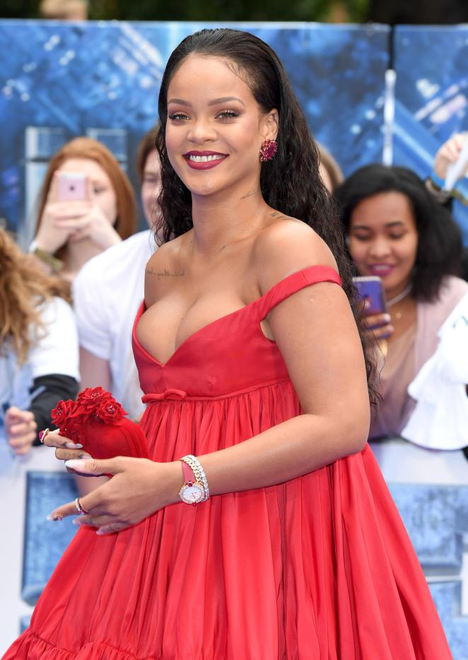 Rihanna at the British premiere of the new film Valerian and the City of One Thousand Planets