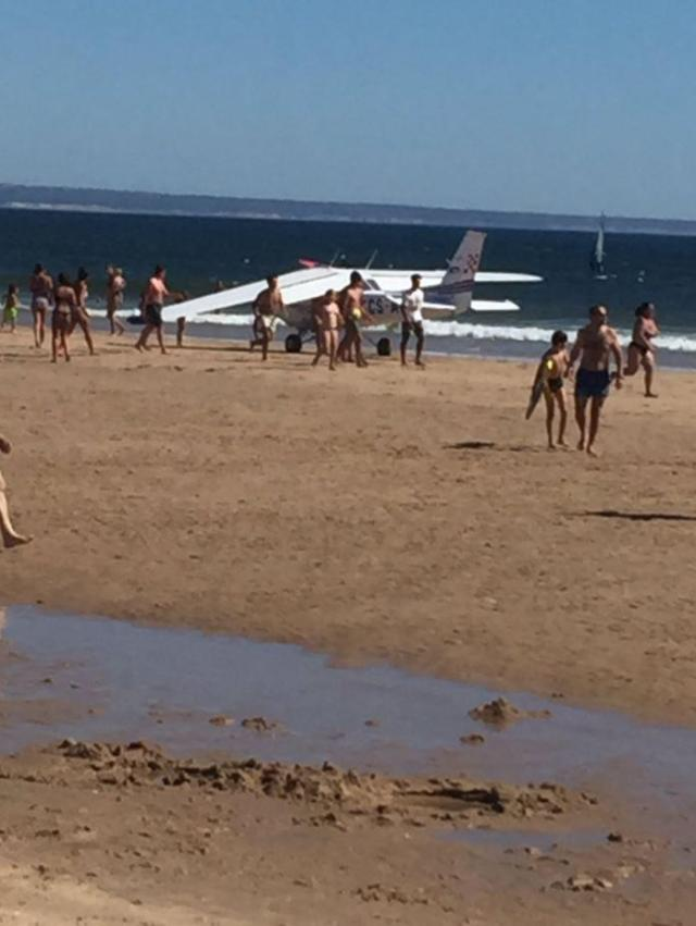 An eight-year-old girl and 56-year-old man were killed when a plane crashed on a Portugal beach
