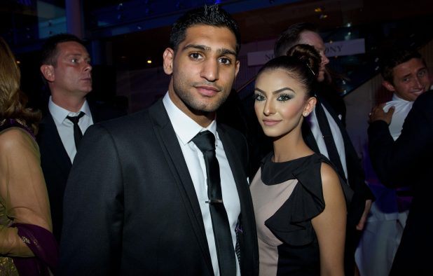 Amir Khan is pictured with Faryal during happier times
