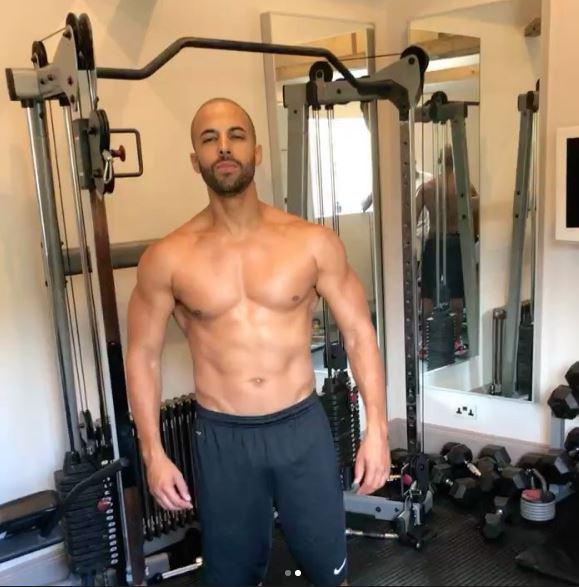 The singer has been working hard on his body