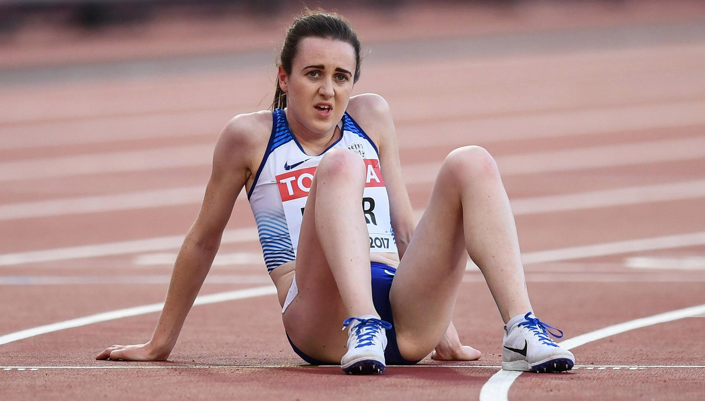 Laura Muir looked shattered at the end of her heat but she's in the final