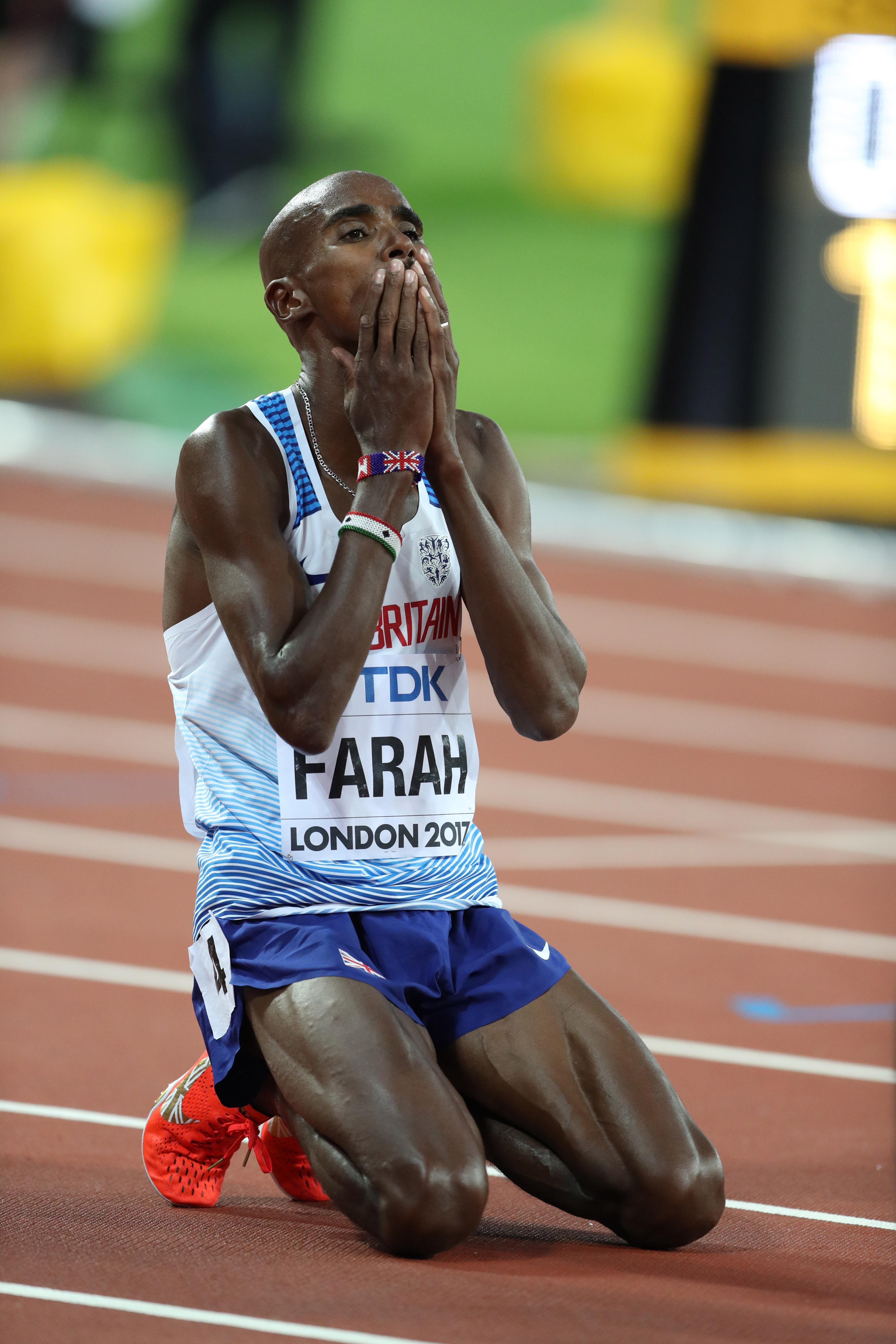 Mo Farah insists that he has no regrets about putting his legacy on the line in London