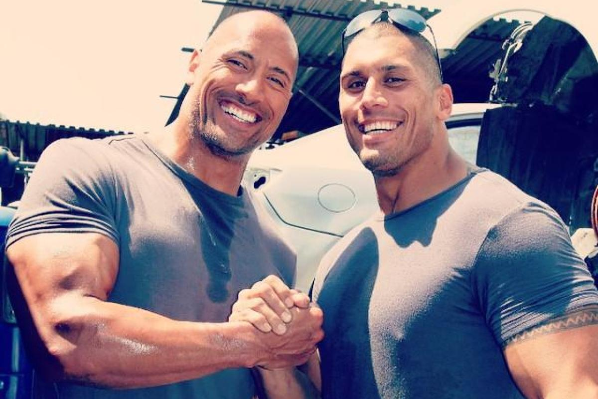 Image result for dwayne johnson stunt double