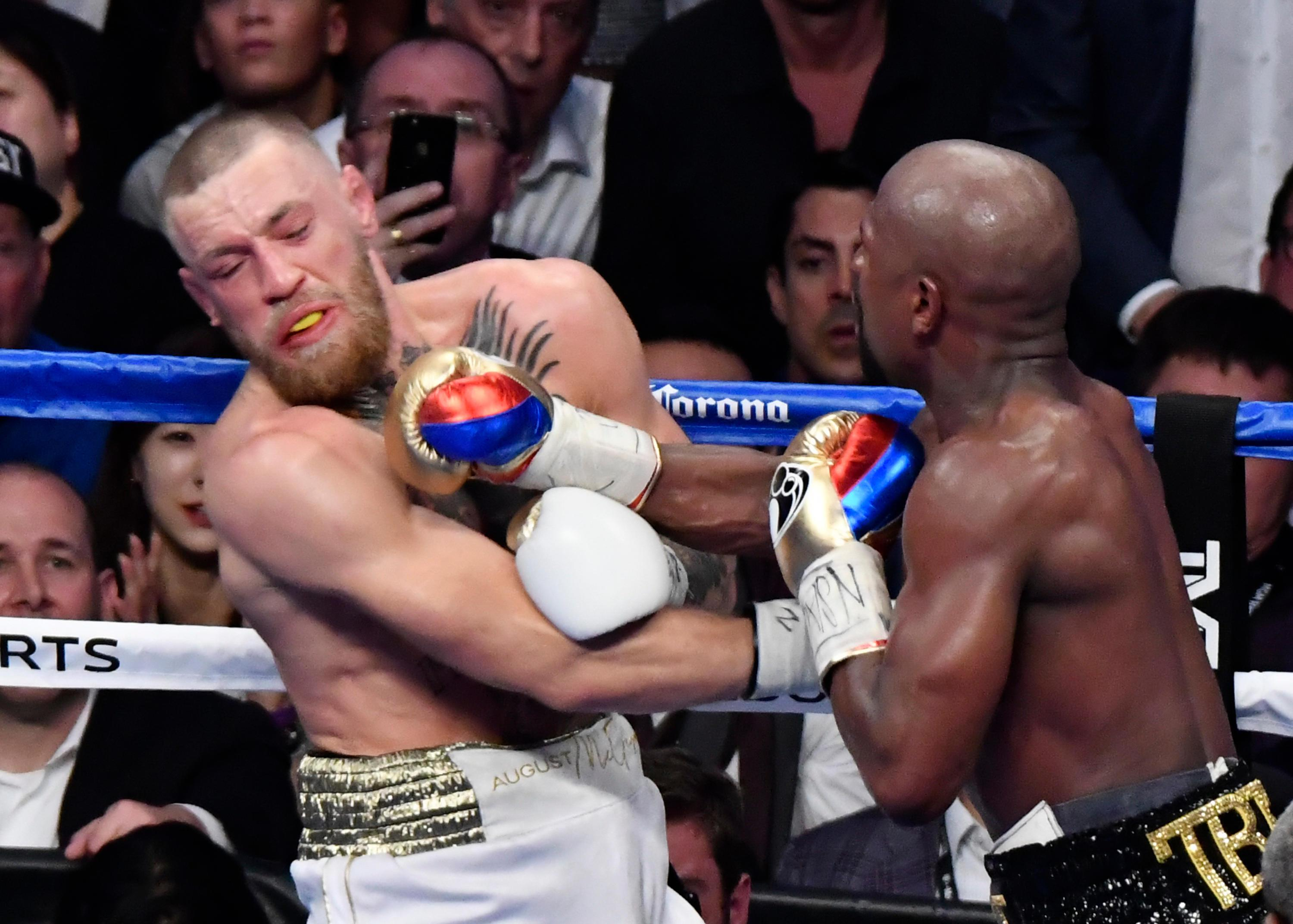 Conor McGregor was stopped in the tenth round by Floyd Mayweather