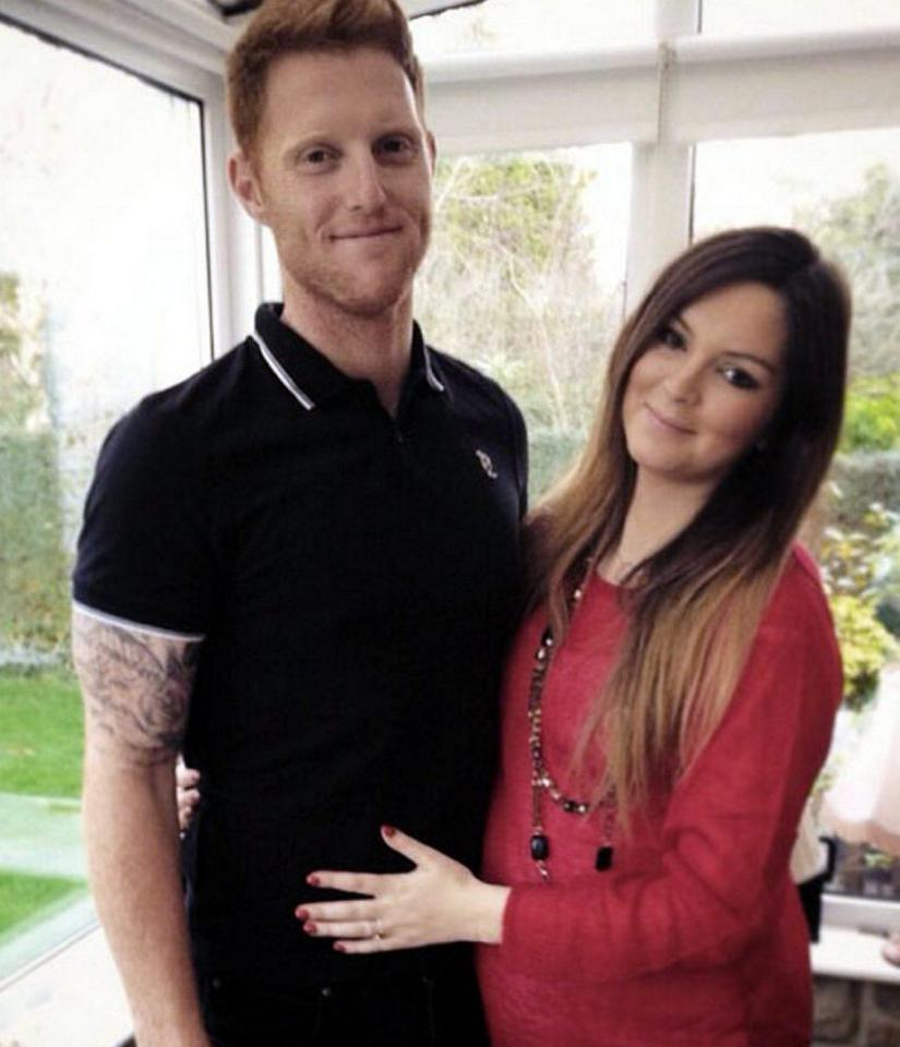 Clare Ratcliffe is pictured with her fiancé Ben Stokes