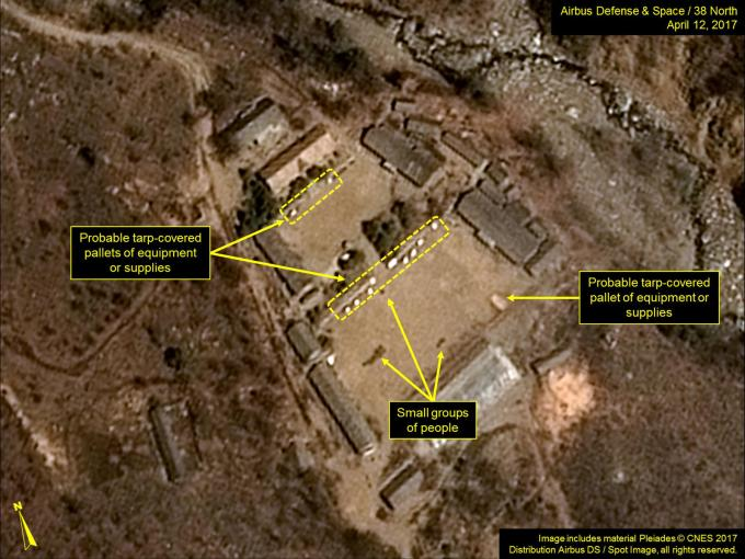 Punggye-ri is seen in commercial satellite imagery taken April 12, 2017